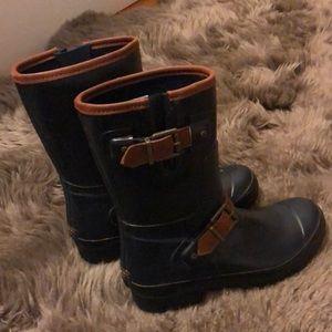 Sperry dark blue rain boots